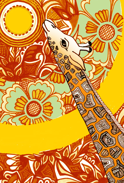 Zana Bass_Giraffe Card Front_Web Detail