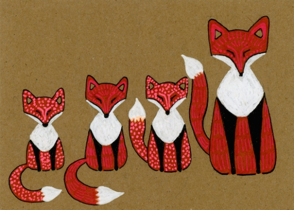 Zana Bass_June 2015_Fathers Day Card Fox Family