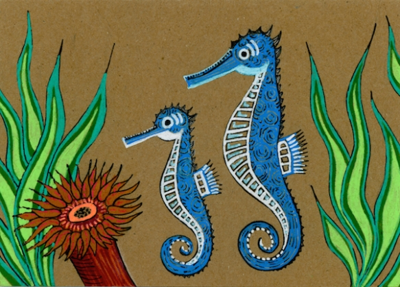 Zana Bass_June 2015_Fathers Day Card Seahorses