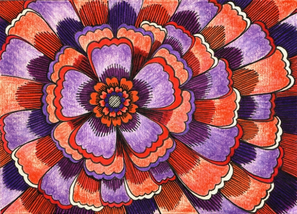Zana Bass_July 2015_Thank you card purple & orange