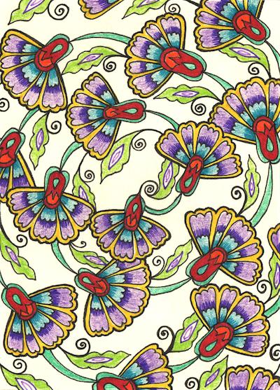 Zana_July_Thank you card Purple Flowers